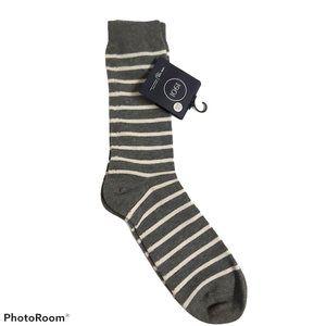 *3/$20* 1901 mid-calf cotton blend socks striped